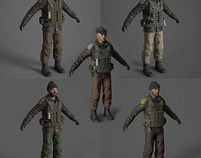 jihadi Terrorist 3d model pack low-poly