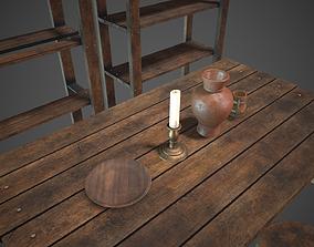 3D asset Medieval Tavern Set