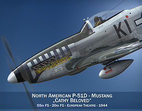 3D North American P-51D Mustang - Cathy Beloved