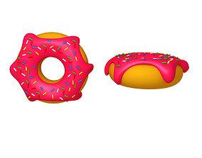 3D Donut Cartoon