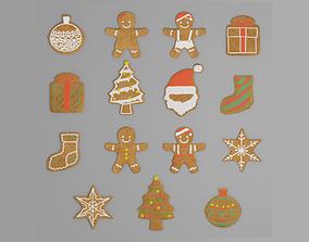 Gingerbread Man G38 3D asset