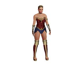 3D model rigged Queen