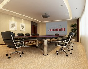Meeting Room Design for 12 People 3D model