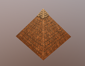 3D asset Ancient egyptian pharaohs pyramid