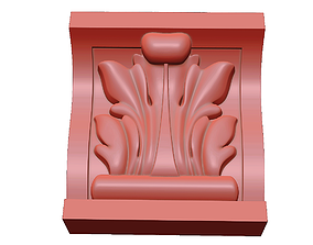 3D printable model Carved bracket KR 011