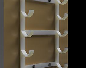 Marker or Pen Holder wall mounted 3D printable model