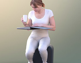 3D asset Anastasia 10490 - Sitting Reading Assistant