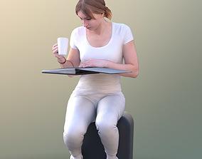 3D asset Anastasia 10490 - Sitting Reading Assistant