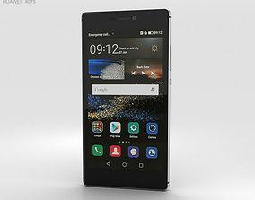 3D model Huawei P8 Titanium Grey