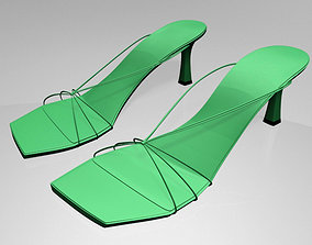3D Strappy Spool-Heel Sandals 01