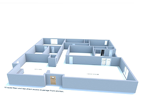 3D house first-model-january House