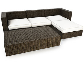 Cube Oudoor Resin Lounge Sofa 3D