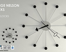 George Nelson Wall Clocks 3D