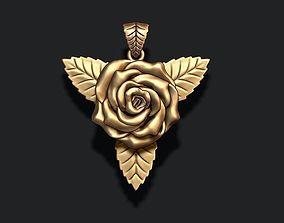 Rose pendant 3D printable model