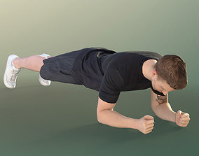 Fitness guy Plank Workout in Gym - 11429 Jimmy 3D asset