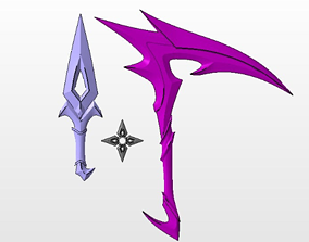 Akali KDA All Out accessories and 3D printable model 4