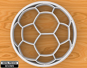 Soccer Football Ball Cookie Cutter 3D printable model