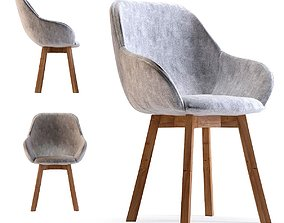 3D model Chair with Armrest Lady Grey