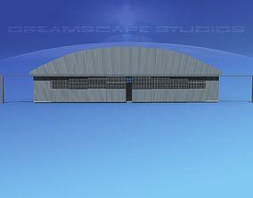3D asset Aircraft Hangar M-1