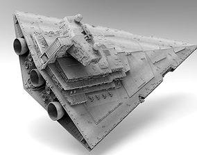Imperial II Star Destroyer Star Wars - High 3D model 2