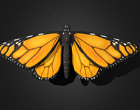 3D model animated Monarch Butterfly