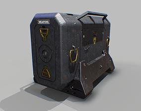 Sci-Fi Weapons Crate 3D model