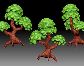 Stylized cartoony fantasy tree 3D