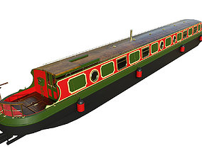 English Canal Boat 03 3D