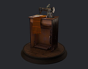 Singer Sewing Machine 1950 3D model