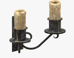 3D model Wall candle holder