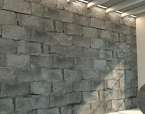 3D Brick wall Old brick 54