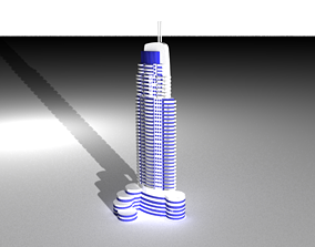 3D model The Address Hotel Dubai