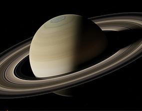 rings Planet Saturn 3D model