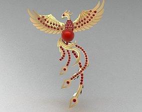3D Golden Phoenix Pendant jewelry