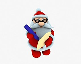 figurine New cool Santa Claus for beautiful 3d print 03