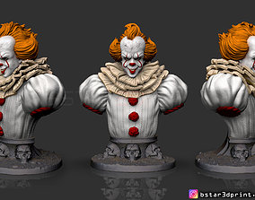 3D print model pennywise Bust High quality - IT chapter 2