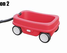 3D asset Kids Wagon Version 2