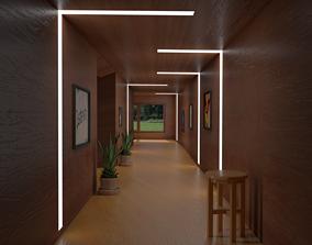 3D model Corridor window