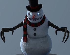 Snowman LowPoly 3D model