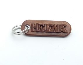 HELENA Personalized keychain embossed 3D printable model