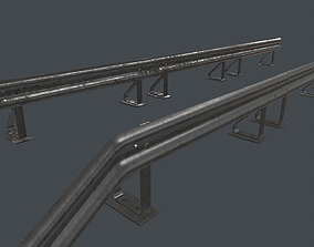 Crash Barrier PBR Game Ready 3D asset