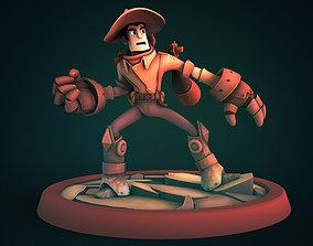 Steam cowboy 3D printable model