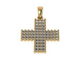 3D print model gem Cross Pendant stl
