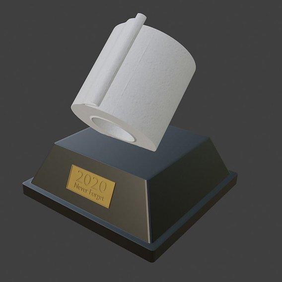 Toilet Paper Bust