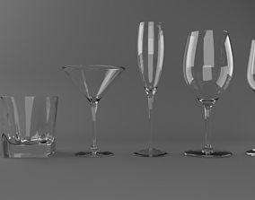 3D asset Alcohol Glass Set