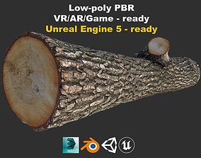 3D asset Wood Log Game-ready