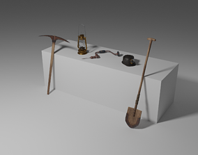 Vintage mining tools collection 3D
