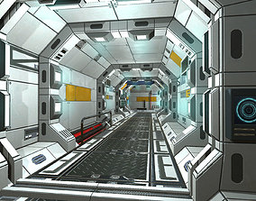 SciFi Corridor Set 3D asset