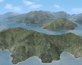 Island Mountains - Marlborough Sounds 3D