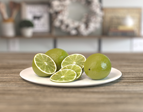 Lime Fruit juicy 3D